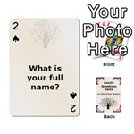 Family Question Card Game - Playing Cards 54 Designs