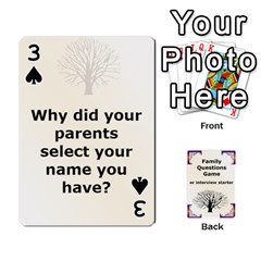 Family Question Card Game By Laurrie   Playing Cards 54 Designs   07o1lmsev80p   Www Artscow Com Front - Spade3