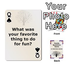 Queen Family Question Card Game By Laurrie   Playing Cards 54 Designs   07o1lmsev80p   Www Artscow Com Front - SpadeQ