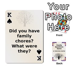 King Family Question Card Game By Laurrie   Playing Cards 54 Designs   07o1lmsev80p   Www Artscow Com Front - SpadeK