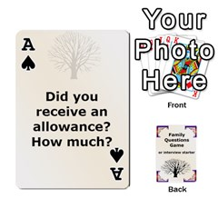 Ace Family Question Card Game By Laurrie   Playing Cards 54 Designs   07o1lmsev80p   Www Artscow Com Front - SpadeA