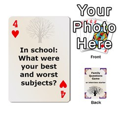 Family Question Card Game By Laurrie   Playing Cards 54 Designs   07o1lmsev80p   Www Artscow Com Front - Heart4