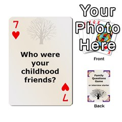 Family Question Card Game By Laurrie   Playing Cards 54 Designs   07o1lmsev80p   Www Artscow Com Front - Heart7
