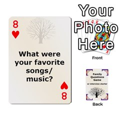 Family Question Card Game By Laurrie   Playing Cards 54 Designs   07o1lmsev80p   Www Artscow Com Front - Heart8