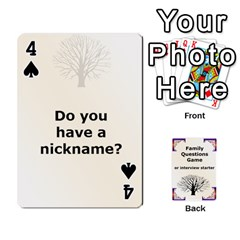 Family Question Card Game By Laurrie   Playing Cards 54 Designs   07o1lmsev80p   Www Artscow Com Front - Spade4