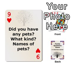 Family Question Card Game By Laurrie   Playing Cards 54 Designs   07o1lmsev80p   Www Artscow Com Front - Heart9