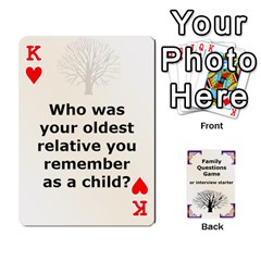 King Family Question Card Game By Laurrie   Playing Cards 54 Designs   07o1lmsev80p   Www Artscow Com Front - HeartK