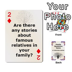Family Question Card Game By Laurrie   Playing Cards 54 Designs   07o1lmsev80p   Www Artscow Com Front - Diamond2