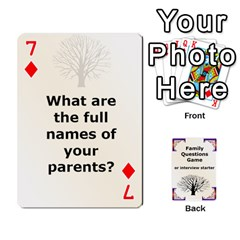 Family Question Card Game By Laurrie   Playing Cards 54 Designs   07o1lmsev80p   Www Artscow Com Front - Diamond7