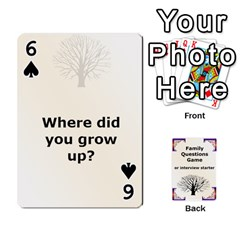 Family Question Card Game By Laurrie   Playing Cards 54 Designs   07o1lmsev80p   Www Artscow Com Front - Spade6