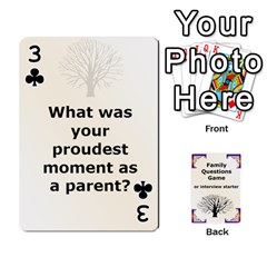 Family Question Card Game By Laurrie   Playing Cards 54 Designs   07o1lmsev80p   Www Artscow Com Front - Club3