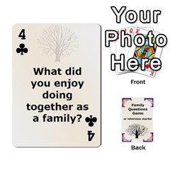Family Question Card Game By Laurrie   Playing Cards 54 Designs   07o1lmsev80p   Www Artscow Com Front - Club4
