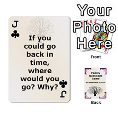 Jack Family Question Card Game By Laurrie   Playing Cards 54 Designs   07o1lmsev80p   Www Artscow Com Front - ClubJ