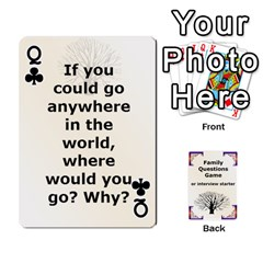 Queen Family Question Card Game By Laurrie   Playing Cards 54 Designs   07o1lmsev80p   Www Artscow Com Front - ClubQ