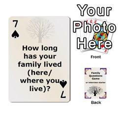 Family Question Card Game By Laurrie   Playing Cards 54 Designs   07o1lmsev80p   Www Artscow Com Front - Spade7