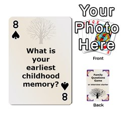 Family Question Card Game By Laurrie   Playing Cards 54 Designs   07o1lmsev80p   Www Artscow Com Front - Spade8