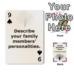 Family Question Card Game By Laurrie   Playing Cards 54 Designs   07o1lmsev80p   Www Artscow Com Front - Spade9