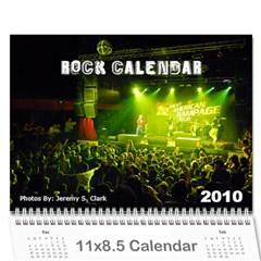 Rock Calendar 2010 By Jeremy Clark   Wall Calendar 11  X 8 5  (12 Months)   Rgox2jx7dzbq   Www Artscow Com Cover