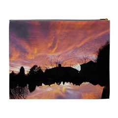 Sunset Sky Large Cosmetic Bag By Catvinnat   Cosmetic Bag (xl)   Dam22yfvqknw   Www Artscow Com Back