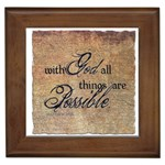 Matthew 19:26 Framed Tile