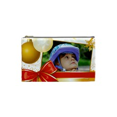 Christmas Kids By Wood Johnson   Cosmetic Bag (small)   0pqy3gh82qoy   Www Artscow Com Front