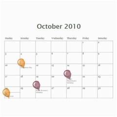 Hannah Calendar By Amy   Wall Calendar 11  X 8 5  (12 Months)   Pbapelhejzow   Www Artscow Com Oct 2010