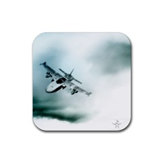 Aircraft Rubber Square Coaster (4 pack) by Xvmon