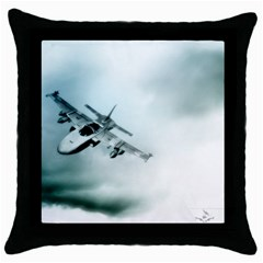 Aircraft Throw Pillow Case (Black) by Xvmon