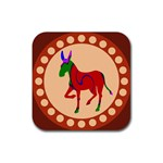 Donkey 8 Rubber Square Coaster (4 pack)
