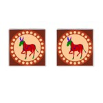 Donkey 8 Cufflinks (Square)