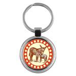 Donkey 9 Key Chain (Round)