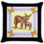 Donkey 9 Throw Pillow Case (Black)