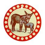 Donkey 9 Ornament (Round)