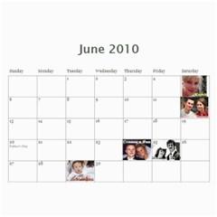 Calendar By Julia   Wall Calendar 11  X 8 5  (12 Months)   2toiw20jaspd   Www Artscow Com Jun 2010