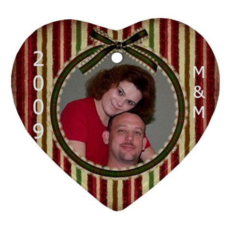 Mm By Jason Miles   Ornament (heart)   49llujaj25bz   Www Artscow Com Front