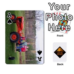 Ace B Tractor Cards By Diana   Playing Cards 54 Designs   Zjrv7udrwwgm   Www Artscow Com Front - SpadeA