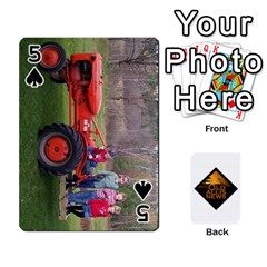 B Tractor Cards By Diana   Playing Cards 54 Designs   Zjrv7udrwwgm   Www Artscow Com Front - Spade5