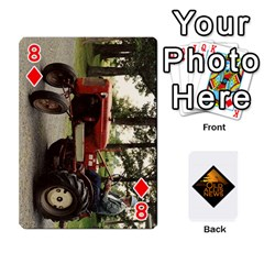 B Tractor Cards By Diana   Playing Cards 54 Designs   Zjrv7udrwwgm   Www Artscow Com Front - Diamond8