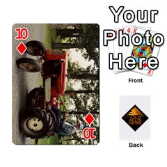 B Tractor Cards By Diana   Playing Cards 54 Designs   Zjrv7udrwwgm   Www Artscow Com Front - Diamond10