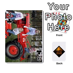 B Tractor Cards By Diana   Playing Cards 54 Designs   Zjrv7udrwwgm   Www Artscow Com Front - Club3
