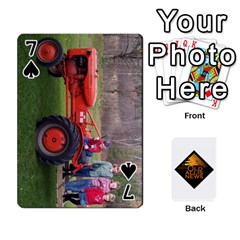 B Tractor Cards By Diana   Playing Cards 54 Designs   Zjrv7udrwwgm   Www Artscow Com Front - Spade7