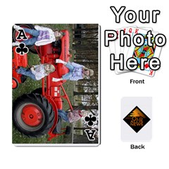 Ace B Tractor Cards By Diana   Playing Cards 54 Designs   Zjrv7udrwwgm   Www Artscow Com Front - ClubA