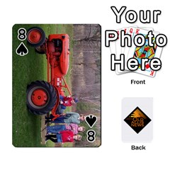 B Tractor Cards By Diana   Playing Cards 54 Designs   Zjrv7udrwwgm   Www Artscow Com Front - Spade8