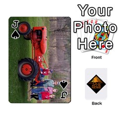 Jack B Tractor Cards By Diana   Playing Cards 54 Designs   Zjrv7udrwwgm   Www Artscow Com Front - SpadeJ