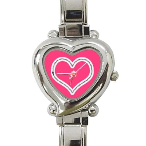 Zip Heart Charm Watch By Catvinnat   Heart Italian Charm Watch   Yz0j9o2tvqub   Www Artscow Com Front