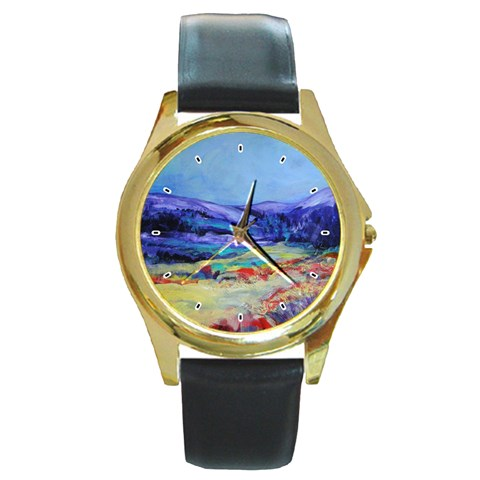 Blue Ridge By Alana   Round Gold Metal Watch   5y1egcbs3ejl   Www Artscow Com Front