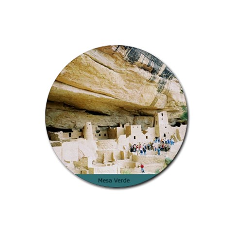 Coaster Mesa Verde Cliff Palace 09 By Lyn Clarke   Rubber Coaster (round)   L7jgumogckpo   Www Artscow Com Front
