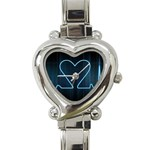 Modern Love Heart Charm Watch www.CatDesignz.com - Heart Italian Charm Watch