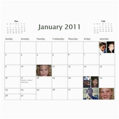Michelle s Family Calender By Michelle   Wall Calendar 11  X 8 5  (12 Months)   0il0kml1psc4   Www Artscow Com Jan 2011