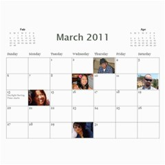 Michelle s Family Calender By Michelle   Wall Calendar 11  X 8 5  (12 Months)   0il0kml1psc4   Www Artscow Com Mar 2011